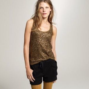 j. crew draped sequins tank top